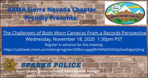 Read more about the article November 18, 2020: Challenges of Body Worn Cameras